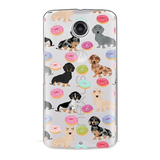 Nexus 6 Cases - Dachshund donuts cute funny clear case for doxie owners must have gifts tech accessories for dog person