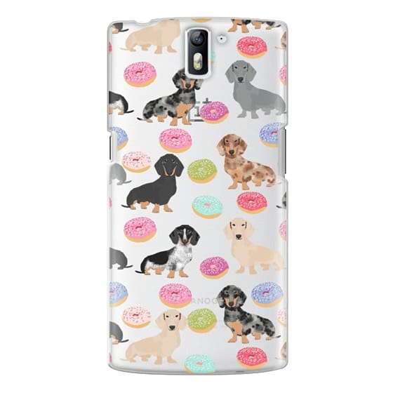 One Plus One Cases - Dachshund donuts cute funny clear case for doxie owners must have gifts tech accessories for dog person