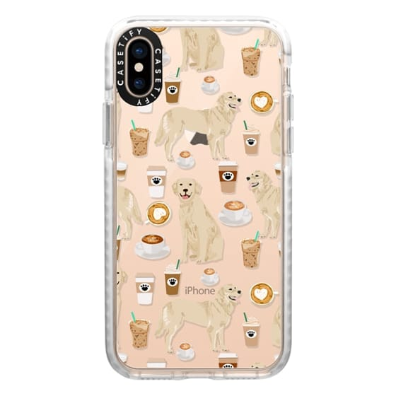 iPhone XS Cases - Golden Retriever coffee latte cafe clear case for popular dog breeds by pet friendly
