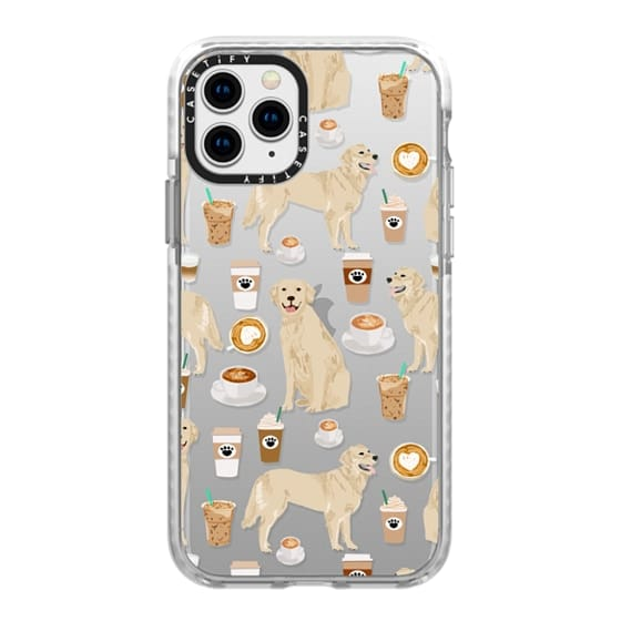 iPhone 11 Pro Cases - Golden Retriever coffee latte cafe clear case for popular dog breeds by pet friendly