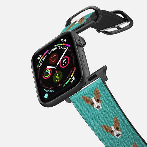 Casetify Saffiano Leather Watch Band - Rat Terrier Christ...