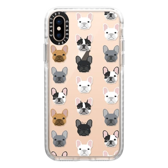 iPhone XS Cases - Frenchies - cute french bulldog owners will love this clear case french bulldog dog love