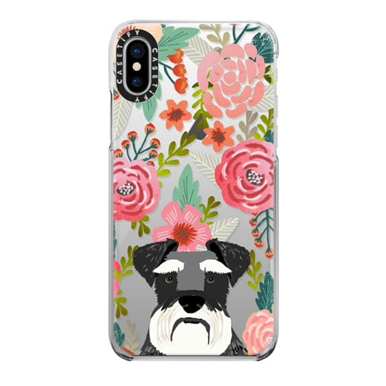 iPhone X Cases - Schnauzer cute dog portrait pet gifts for dog lovers custom cell phone case dog breeds