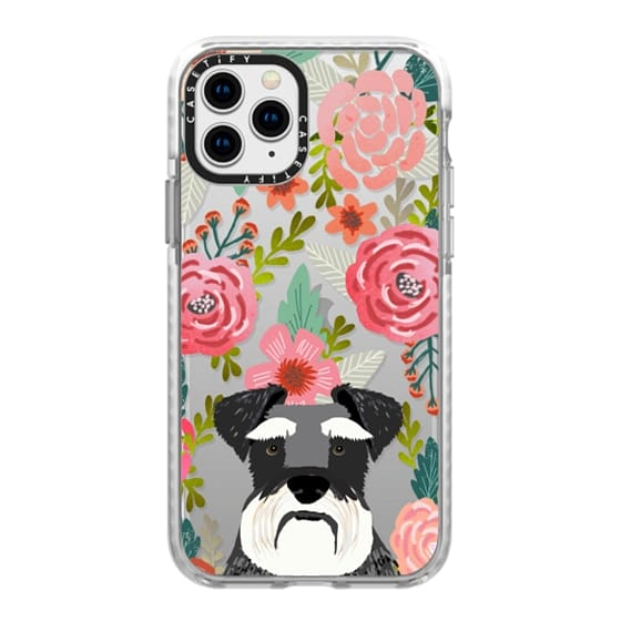 iPhone 11 Pro Cases - Schnauzer cute dog portrait pet gifts for dog lovers custom cell phone case dog breeds