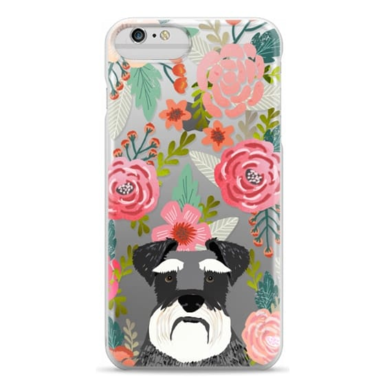 iPhone 6 Plus Cases - Schnauzer cute dog portrait pet gifts for dog lovers custom cell phone case dog breeds