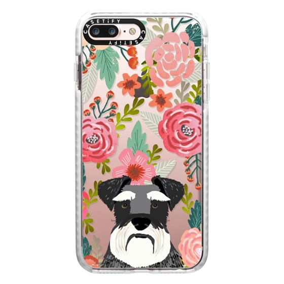 iPhone 7 Plus Cases - Schnauzer cute dog portrait pet gifts for dog lovers custom cell phone case dog breeds