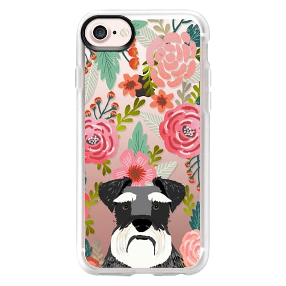 iPhone 7 Cases - Schnauzer cute dog portrait pet gifts for dog lovers custom cell phone case dog breeds