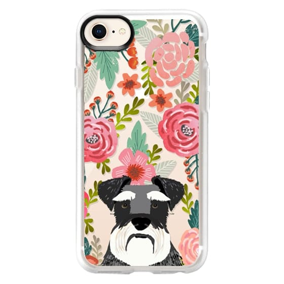 iPhone 8 Cases - Schnauzer cute dog portrait pet gifts for dog lovers custom cell phone case dog breeds