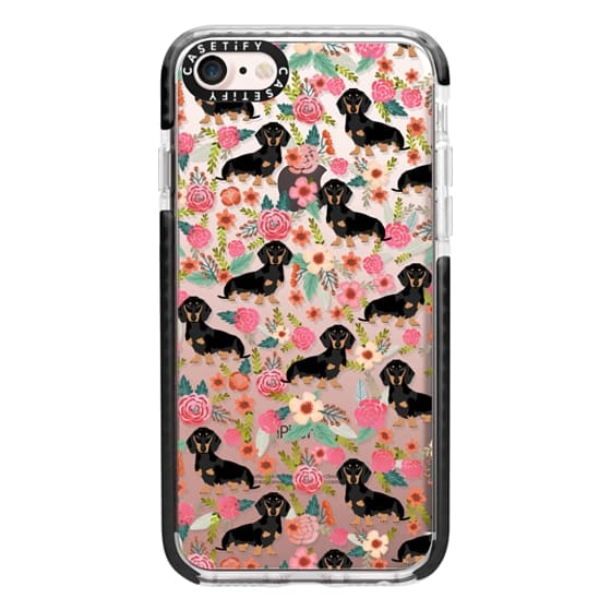 iPhone 7 Cases - Dachshund moxie cute florals weener dog must have gifts for dog person dog breed