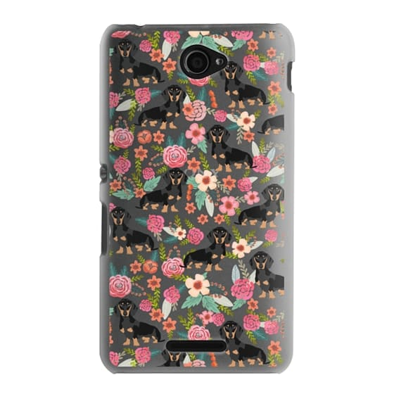 Sony E4 Cases - Dachshund moxie cute florals weener dog must have gifts for dog person dog breed