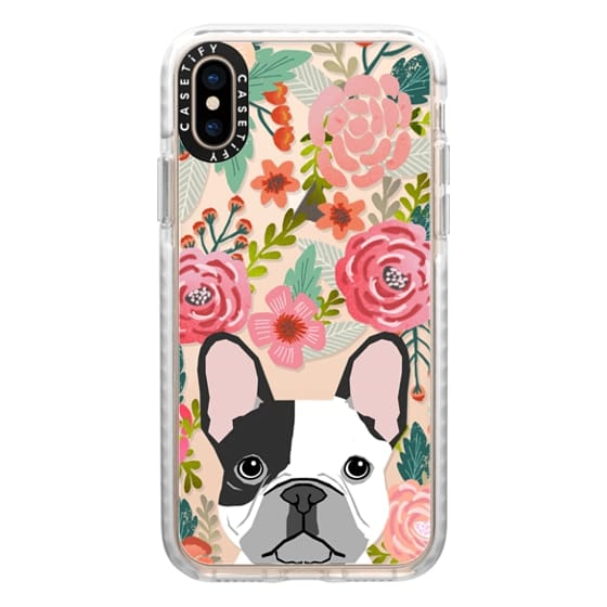 iPhone XS Cases - French Bulldog black and white cute bulldog frenchie puppy cell phone transparent iphone6 gold trendy dog person gifts