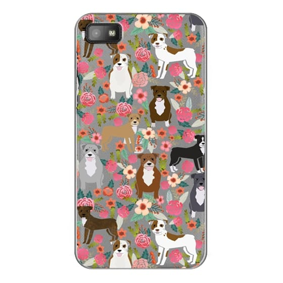 Blackberry Z10 Cases - Pit Bull florals dog gifts for pit bull owners must haves pet friendly tech accessories