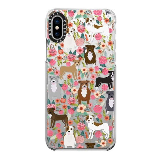 iPhone X Cases - Pit Bull florals dog gifts for pit bull owners must haves pet friendly tech accessories