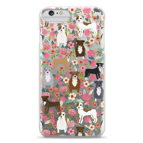 iPhone 6 Plus Cases - Pit Bull florals dog gifts for pit bull owners must haves pet friendly tech accessories