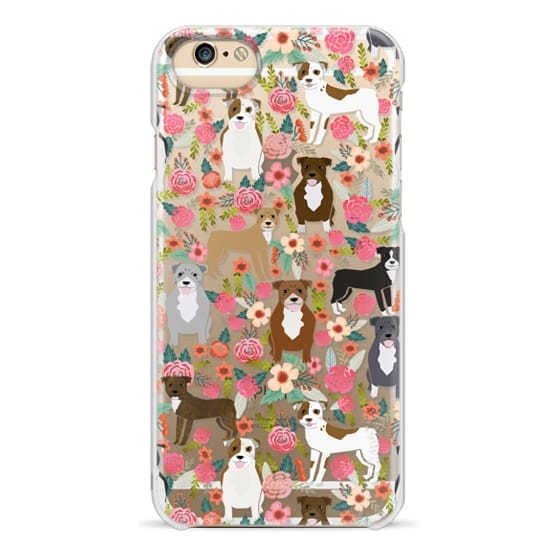 iPhone 6 Cases - Pit Bull florals dog gifts for pit bull owners must haves pet friendly tech accessories