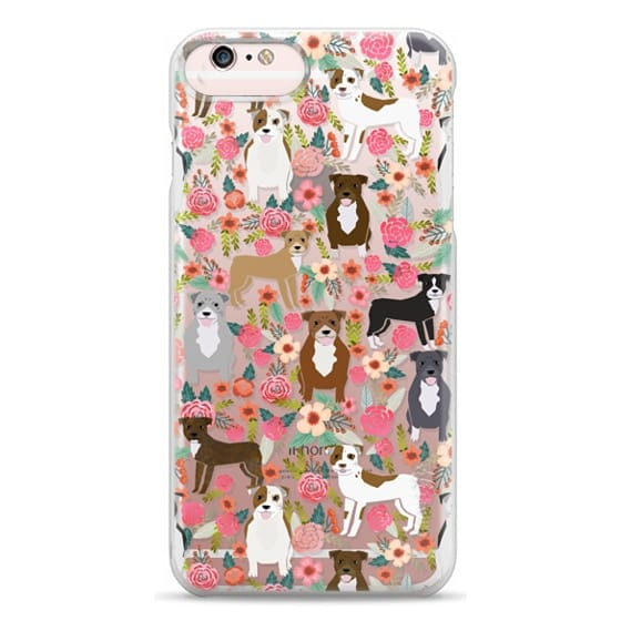 iPhone 6s Plus Cases - Pit Bull florals dog gifts for pit bull owners must haves pet friendly tech accessories