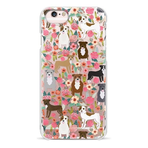 iPhone 6s Cases - Pit Bull florals dog gifts for pit bull owners must haves pet friendly tech accessories