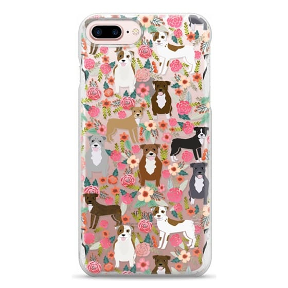 iPhone 7 Plus Cases - Pit Bull florals dog gifts for pit bull owners must haves pet friendly tech accessories