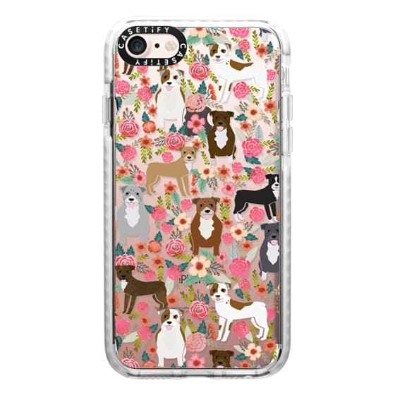 iPhone 7 Cases - Pit Bull florals dog gifts for pit bull owners must haves pet friendly tech accessories