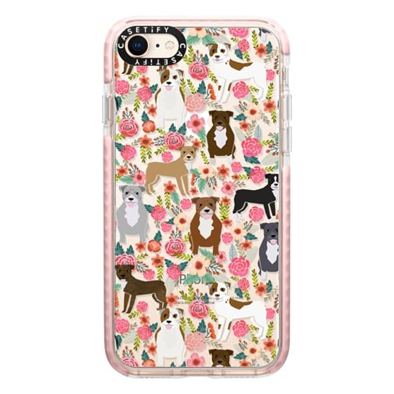 iPhone 8 Cases - Pit Bull florals dog gifts for pit bull owners must haves pet friendly tech accessories