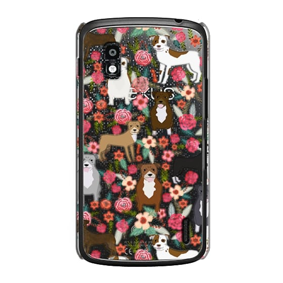 Nexus 4 Cases - Pit Bull florals dog gifts for pit bull owners must haves pet friendly tech accessories
