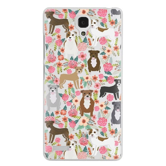 Redmi Note Cases - Pit Bull florals dog gifts for pit bull owners must haves pet friendly tech accessories
