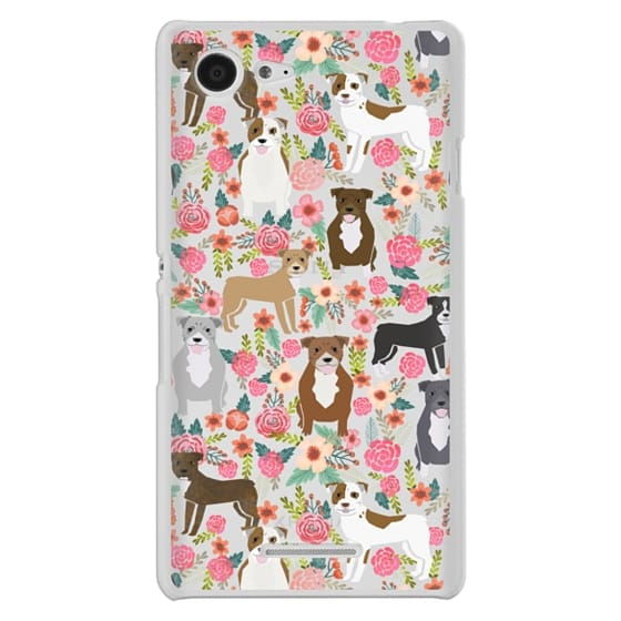 Sony E3 Cases - Pit Bull florals dog gifts for pit bull owners must haves pet friendly tech accessories