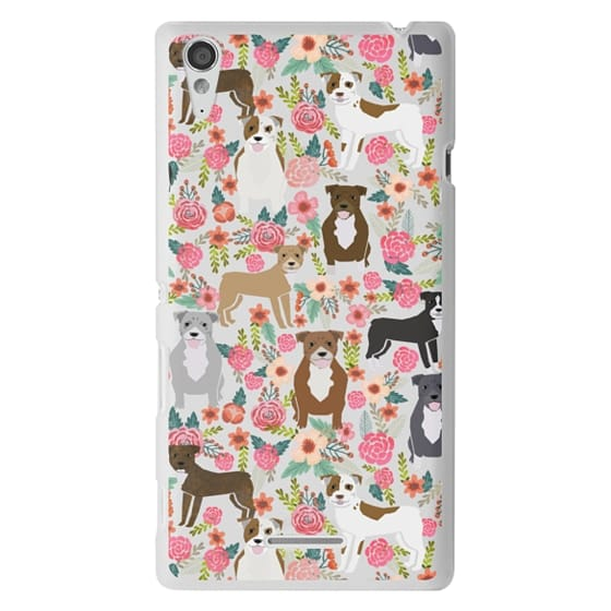 Sony T3 Cases - Pit Bull florals dog gifts for pit bull owners must haves pet friendly tech accessories