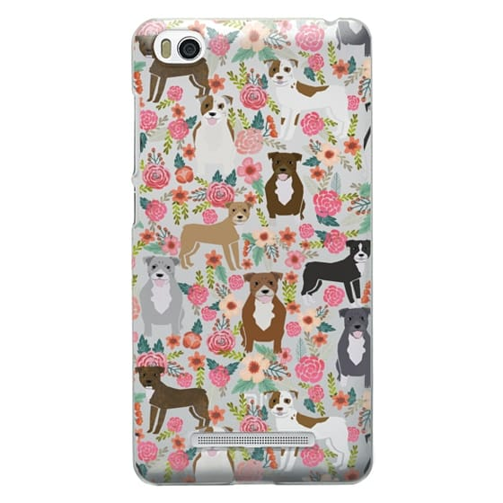 Xiaomi 4i Cases - Pit Bull florals dog gifts for pit bull owners must haves pet friendly tech accessories