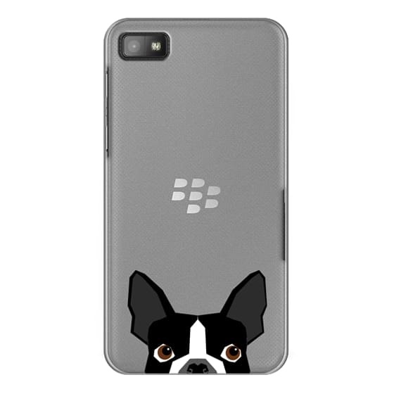 Blackberry Z10 Cases - Boston Terrier Cell Phone case for dog lovers dog person gifts clear iphone case black and white puppy