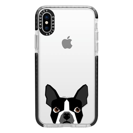 iPhone X Cases - Boston Terrier Cell Phone case for dog lovers dog person gifts clear iphone case black and white puppy
