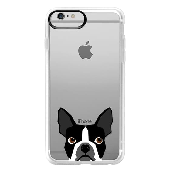 iPhone 6 Plus Cases - Boston Terrier Cell Phone case for dog lovers dog person gifts clear iphone case black and white puppy