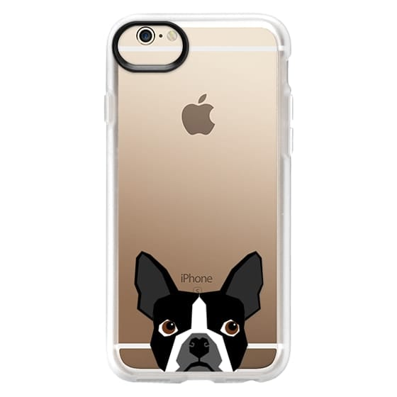 iPhone 6 Cases - Boston Terrier Cell Phone case for dog lovers dog person gifts clear iphone case black and white puppy