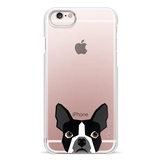 iPhone 6s Cases - Boston Terrier Cell Phone case for dog lovers dog person gifts clear iphone case black and white puppy