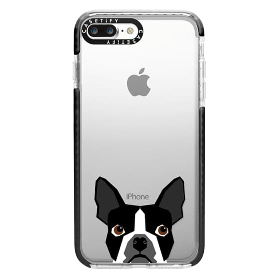 iPhone 7 Plus Cases - Boston Terrier Cell Phone case for dog lovers dog person gifts clear iphone case black and white puppy