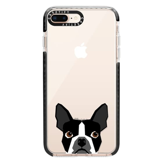 iPhone 8 Plus Cases - Boston Terrier Cell Phone case for dog lovers dog person gifts clear iphone case black and white puppy