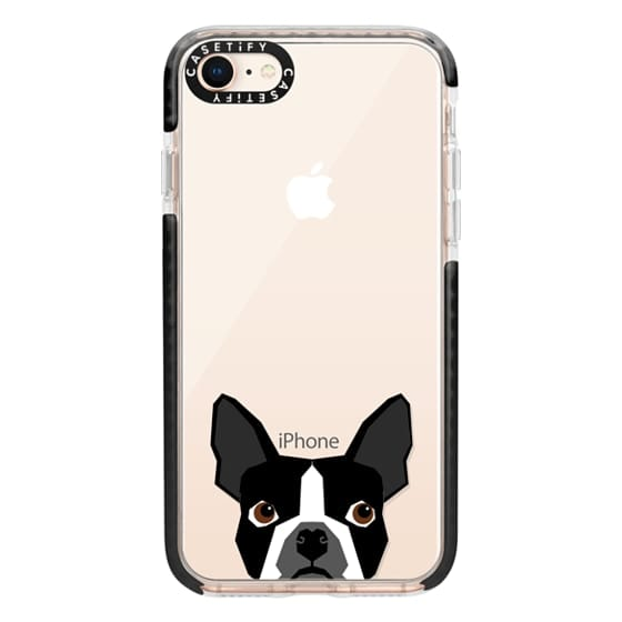 iPhone 8 Cases - Boston Terrier Cell Phone case for dog lovers dog person gifts clear iphone case black and white puppy