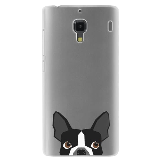 Redmi 1s Cases - Boston Terrier Cell Phone case for dog lovers dog person gifts clear iphone case black and white puppy