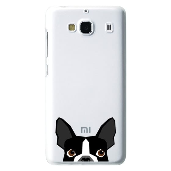 Redmi 2 Cases - Boston Terrier Cell Phone case for dog lovers dog person gifts clear iphone case black and white puppy