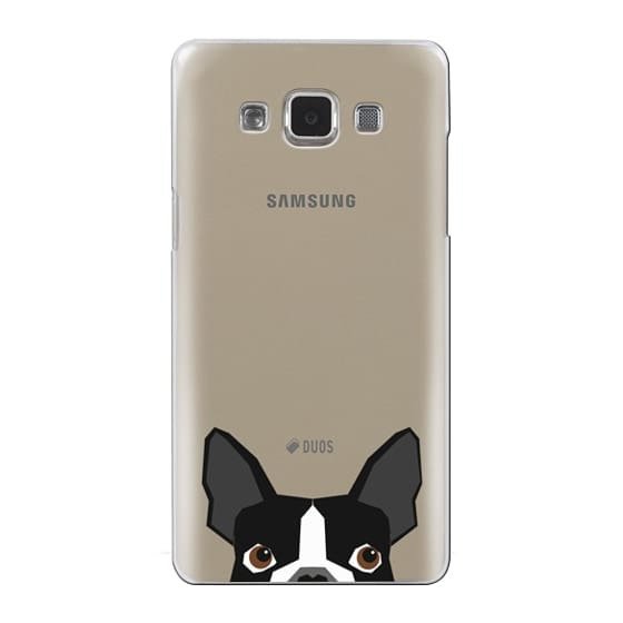 Samsung Galaxy A5 Cases - Boston Terrier Cell Phone case for dog lovers dog person gifts clear iphone case black and white puppy