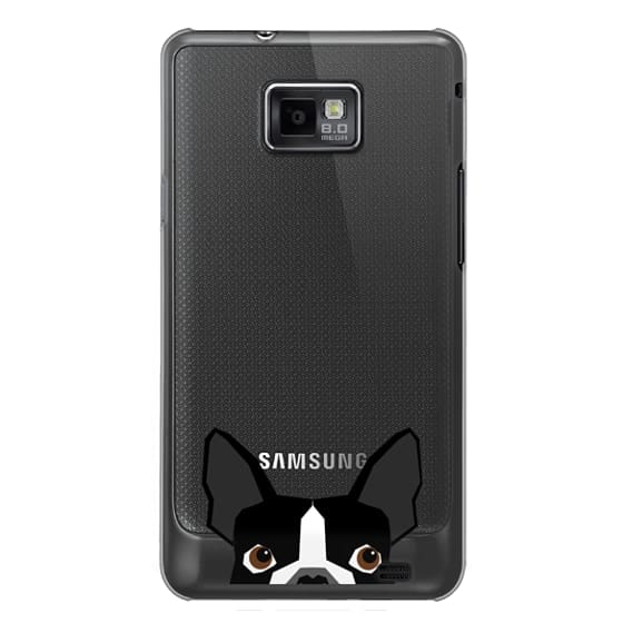 Samsung Galaxy S2 Cases - Boston Terrier Cell Phone case for dog lovers dog person gifts clear iphone case black and white puppy