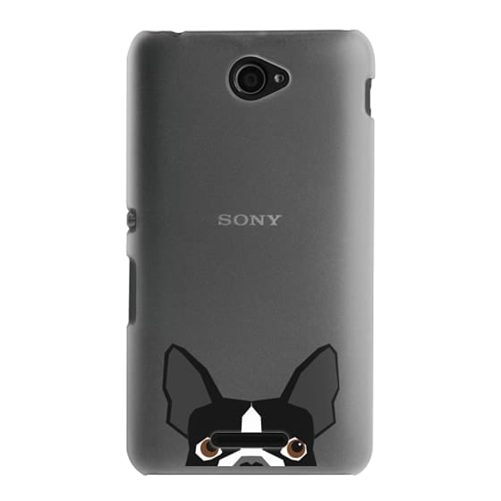 Sony E4 Cases - Boston Terrier Cell Phone case for dog lovers dog person gifts clear iphone case black and white puppy