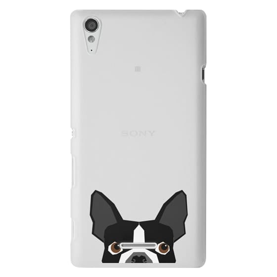 Sony T3 Cases - Boston Terrier Cell Phone case for dog lovers dog person gifts clear iphone case black and white puppy