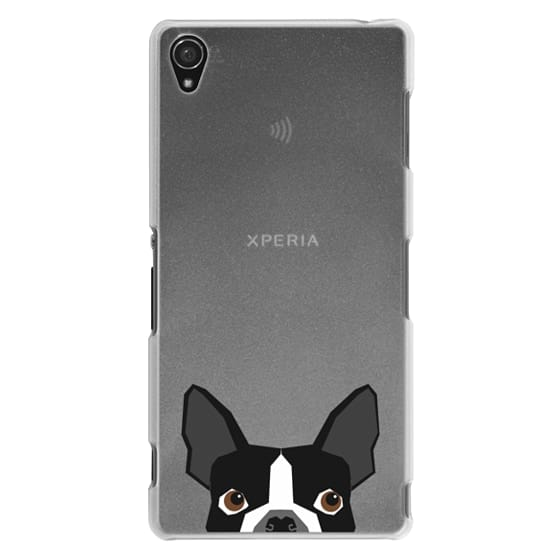 Sony Z3 Cases - Boston Terrier Cell Phone case for dog lovers dog person gifts clear iphone case black and white puppy