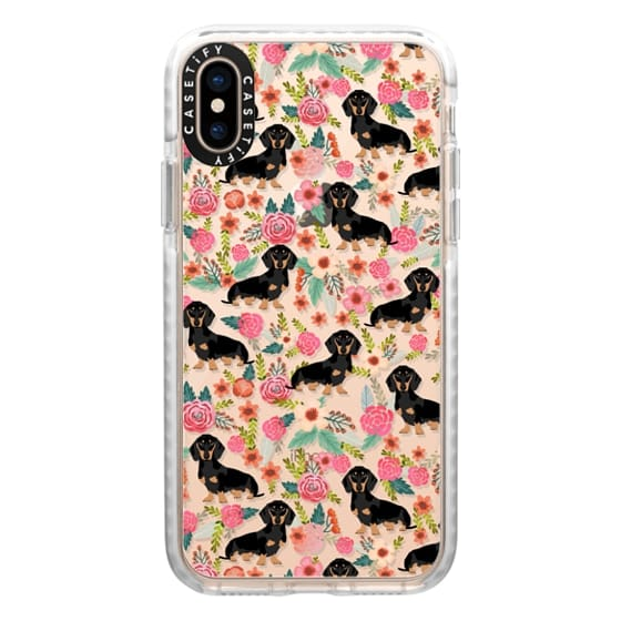iPhone XS Cases - Dachshund moxie cute florals weener dog must have gifts for dog person dog breed