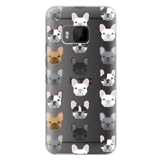 Htc One M9 Cases - Frenchies - cute french bulldog owners will love this clear case french bulldog dog love