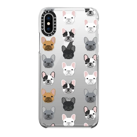 iPhone X Cases - Frenchies - cute french bulldog owners will love this clear case french bulldog dog love