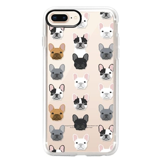 iPhone 8 Plus Cases - Frenchies - cute french bulldog owners will love this clear case french bulldog dog love