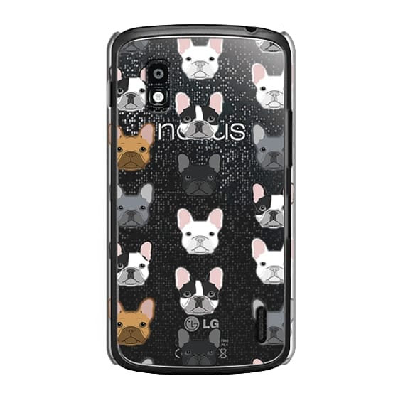 Nexus 4 Cases - Frenchies - cute french bulldog owners will love this clear case french bulldog dog love