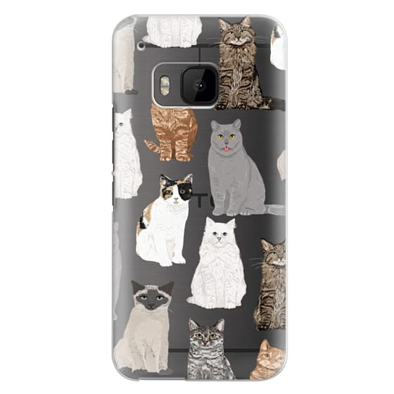 Htc One M9 Cases - Cat breeds must have cat lady gifts unique one of a kind transparent cell phone case pet friendly designs